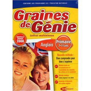 Graines de génie : Primaire - Coffret multiniveau Anglais 2008 [Windows]
