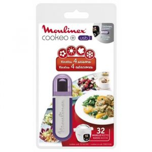Moulinex Livre de cuisine COOKEO 32 recettes - 4 saisons