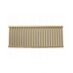 AZURE | Radiateur eau chaude design horizontal Acier 54x140 cm Puissance 810W | Radiateur 23 lames chauffage central Entraxe 500mm | Or TROUV