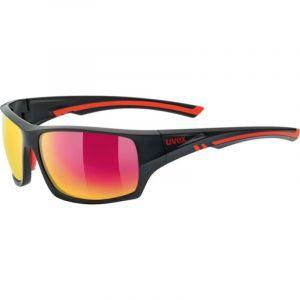 Uvex Sportstyle 222 Sports Glasses - Matt Black / Red - Mirror Red