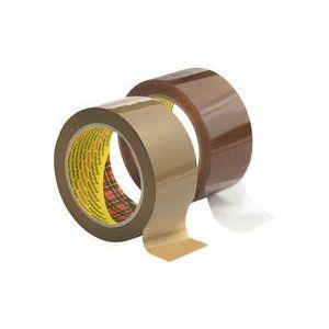 Scotch 3707B506 - Ruban adhésif d'emballage 3707, havane, 50mm x 66m, ép. 55µ