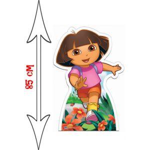 Figurine géante en carton Dora l'exploratrice (85 x 59 cm)