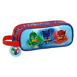 Trousse scolaire 2 compartiments Pyjamasques Be a hero