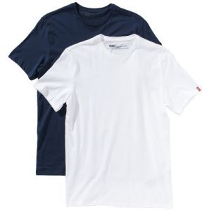 Levi's Slim 2 Pack Crew T-shirt Hommes bleu blanc T. S