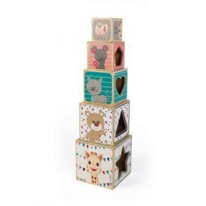 Janod Jouet d'eveil Pyramide Sophie la Girafe