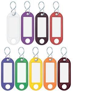 Wedo 262 803499 - Boîte de 100 porte-clés avec crochet S, diamètre: 12 mm, assortis