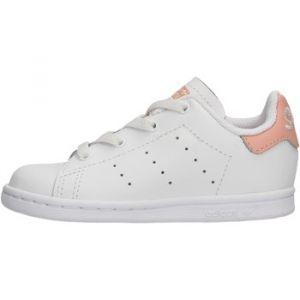 Adidas Stan Smith El I, Chaussures de Gymnastique Mixte bébé, Blanc FTWR White/Glow Pink, 22 EU