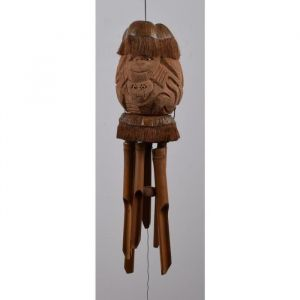 Carillon a vent Singe Noix de coco - En noix de coco et bambou