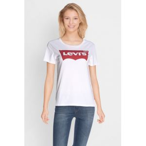 Levi's The Perfect - T-shirt - Manches courtes - Femme, Blanc (Batwing White Graphic 53), Large