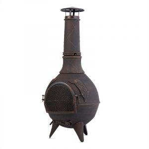 Blumfeldt Augustus - Poêle en fonte pour terrasse 120 cm