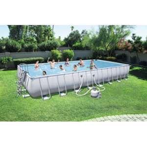 Bestway 56623 - Kit Piscine Rectangulaire Power Steel Frame Pools L956 x l488 x h132cm