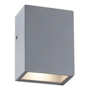 Vertak Petite applique d'extérieur LED rectangulaire à double faisceau gris anthracite