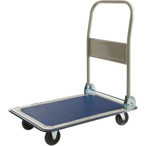 Arebos Chariot à plate-forme pliable 150 kg Chariot de transport, de Manutention, Chariot
