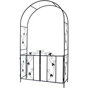 2001085 - Arche de jardin à rosiers avec portillon