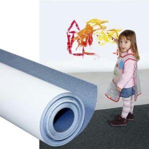 Maildor Rouleau papier à peindre blanc traité anti-humidité - rouleau de 5 x 0,50 m