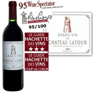 Château Latour 2001 - Grand vin rouge de Bordeaux (AOC Pauillac)