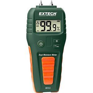 Extech MO55 Humidimètre pour matériaux Construction 1.5 à 33 % vol Bois 5 à 50 % vol mesure sans contact IR