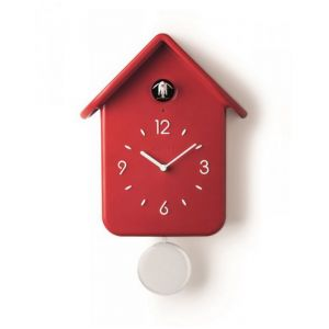 Guzzini 16860255 Horloge à coucou 30cm rouge
