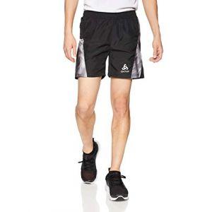 Odlo Pantalons Omnius Inner Brief - Black / Concrete Grey / Black/ Aop Fw18 - Taille M
