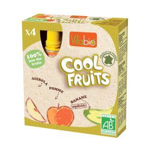 KaliBio Cool Fruits : Compote à boire Pomme Banane 4 x 90g