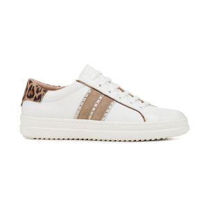 Geox Chaussures casual à imprimé animal sur le talon Modèle D PONTOISE DD94FED Blanc - Taille 41