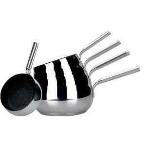 Arthur Martin Chaudron série de 5 casseroles - Ø 12 / 14 / 16 / 18 / 20 cm - Sans PFOA - Tous feux dont induction - Série de 5 casseroles Ø12 / 14 / 16 / 18 / 20 cm - En acier inoxydable - Sans PFOA - Tous feux dont induction