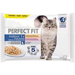 Perfect fit 4x85g Indoor 1+ Chats stérilisés - Nourriture pour Chat