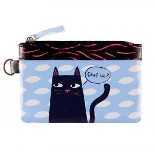 Derrière la porte Porte-monnaie PAT Black cat