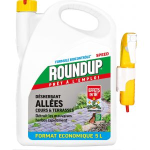Roundup Désherbant allées terrasses prêt à l'emploi - 5 L