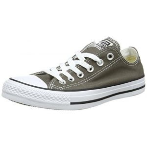Converse Chuck Taylor All Star Season Ox, Baskets Basses Mixte adulte - Gris (Charcoal), 43 EU