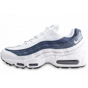 Nike Homme Air Max 95 Essential Blanche Et Bleue Baskets
