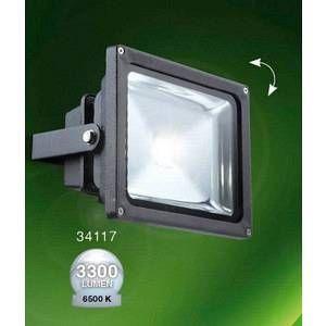 Globo Lighting Projecteur de façade Globo PROJECTEUR LED Anthracite, 1 lumière - Moderne - Extérieur - PROJECTEUR