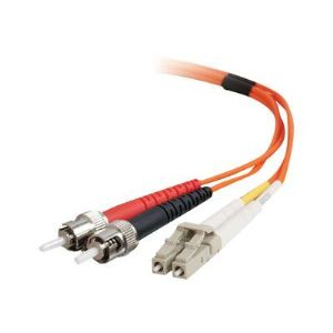 C2g 85548 - Câble fibre optique LC-ST 50/125 OM2 Duplex Multimode PVC 2 m orange