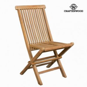 Chaise pliante en teck by Craften Wood