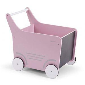 Childhome Chariot de marche en bois rose clair