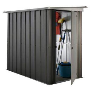 Yardmaster Abri de jardin en métal 1,90 m² - Gris anthracite