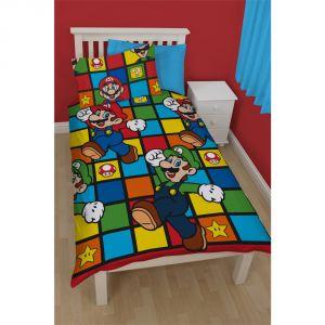 Character World Super Mario - Housse de couette et taie (135 x 200 cm)