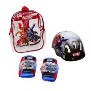D'arpèje Set de protections + casque DC Comics