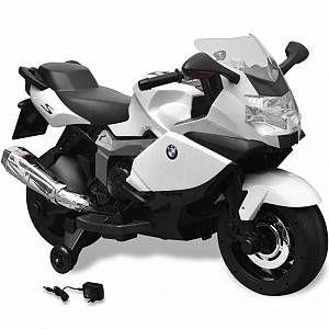 VidaXL Moto électrique BMW 283 blanc 6 V pour enfant