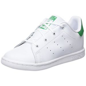 Adidas Stan Smith I, Chaussures de Fitness Mixte Enfant, Blanc Cassé (FTWR White/FTWR White/Green), 27 EU