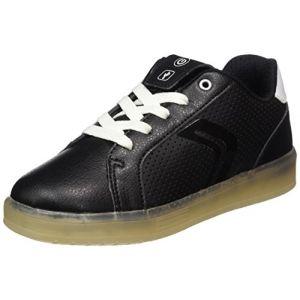 Image de Geox J Kommodor B, Sneakers Basses Garçon, Noir (Black/White), 30 EU