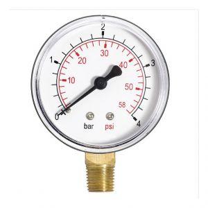 """Ferro 60mm 10bar huile de l'air de la jauge de pression de 150 psi ou de l'eau 1/4 """"""""BSPT entrée latérale manomètre"""
