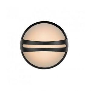 Lucide Applique - Plafonnier rond Yazoo LED IP54 D26 cm - Noir