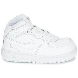 Nike Chaussure Air Force 1 Mid pour Bébé/Petit enfant - Blanc - Taille 19.5 - Unisex