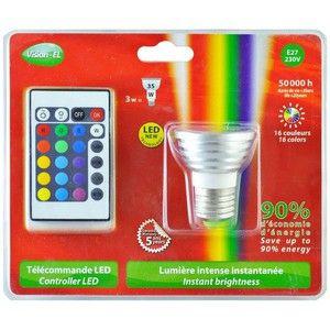 Vision-El Vision EL Ampoule électrique LED E27 3w RGB