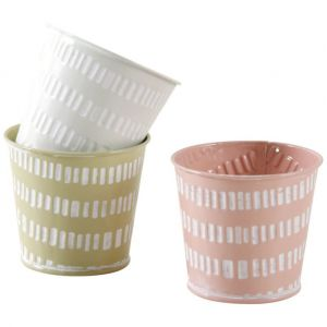 Aubry Gaspard Mini cache-pot rond pastel (Lot de 3)