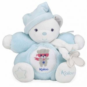 Kaloo Imagine - Peluche Patapouf Ourson Phosphorescente Bleu Aqua - 18 cm