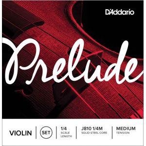D'Addario Bowed Jeu de cordes pour violon Prelude, manche 1/4, tension Medium