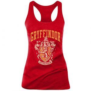 Cotton Division Debardeur Debardeur Harry Potter femme - Griffindor Old School rouge - Taille EU M,EU L,EU XL