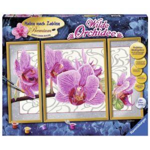 Ravensburger Peinture par numéro - Triptyque : wild Orchidée